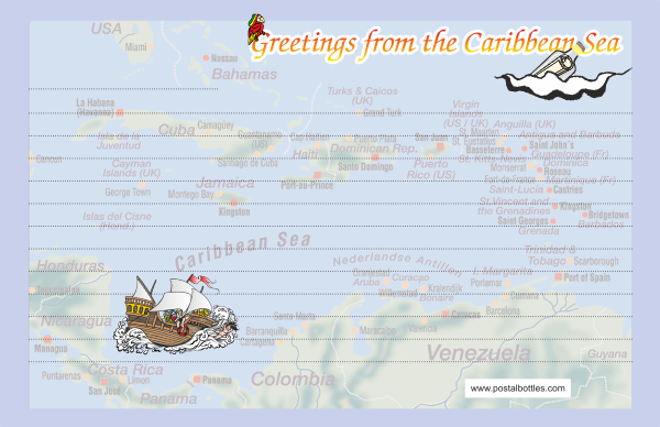 Greetings from puerto rico postal bottles greetings from puerto rico m4hsunfo